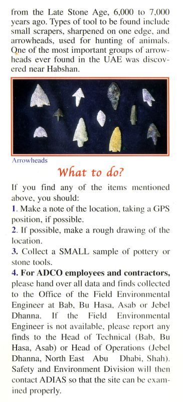 ADCO - ADIAS Archaeology Leaflet Page 5/6