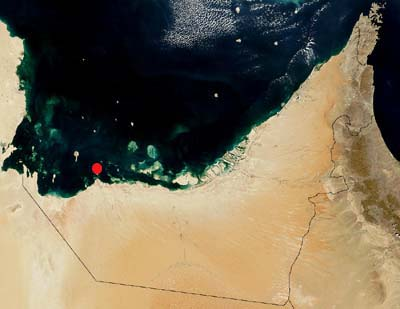 Location of Sir Bani Yas (Source: ADIAS)