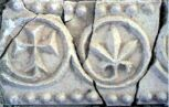 Sir Bani Yas - Decorated plaster panel from the monastery (site SBY9)  (Photograph by ADIAS)