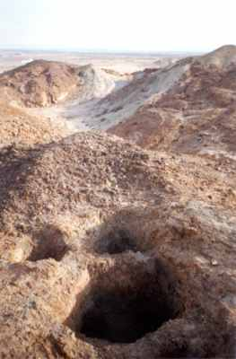 View of the sulphur mines at Jebel Dhanna  (Photograph by ADIAS)